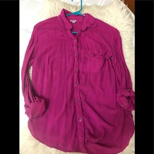 Splendid bouton down blouse XS